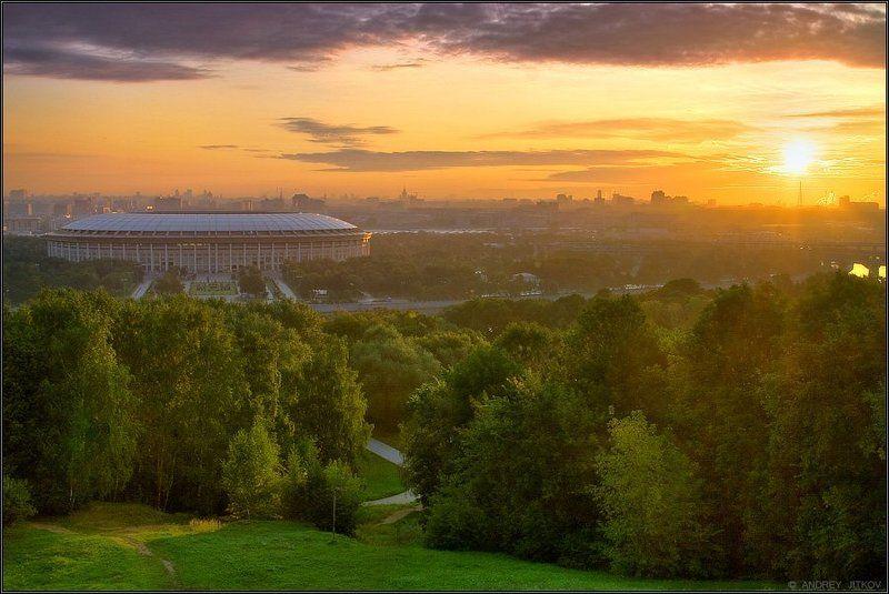 пейзаж, москва Рассвет первого дня осени..photo preview