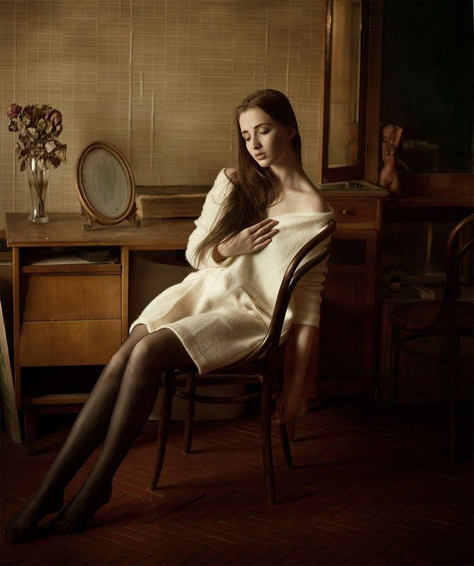 Девушка, Естественный свет, Женский портрет, Портрет, Санкт-Петербург, Старая квартира, Элина photo preview