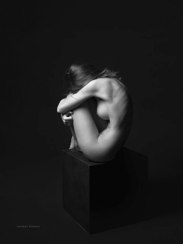 Andrey Stanko, nudes, nude, naked, ню, чб, nudeart Black Cubephoto preview