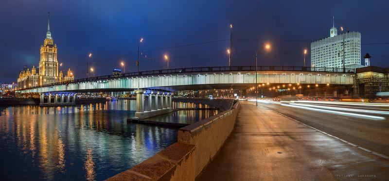 architecture, bridge, moscow, reflection, москва, мосты, отражения Новоарбатский мост.photo preview