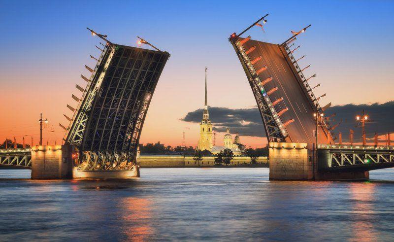петропавловская, крепость, дворцовый, мост Классика Петербургаphoto preview