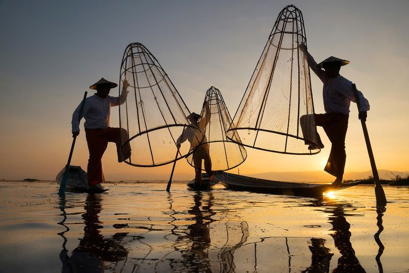 Fishing (Inle myanmar) Fishing (Inle myanmar)photo preview