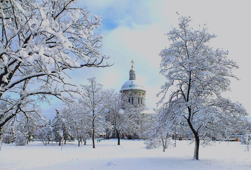 #город, #зима, #природа, #Ростов-на-Дону, #храм, #церковь С Новым Годом и Рождеством !photo preview