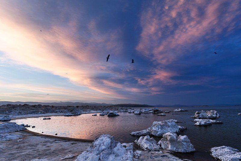 mono lake california sunset Mono lake, California, USAphoto preview