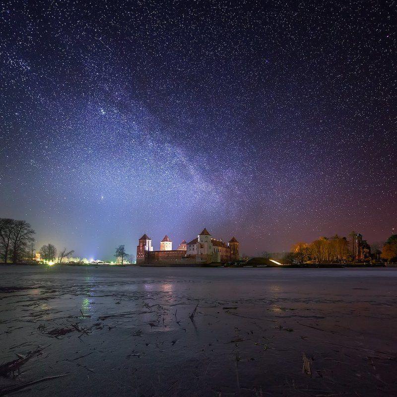 Звездная зимняя ночьphoto preview