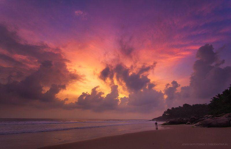 океан,керала,индия,море,пейзаж,природа,путешествия,небо,тропики,пляж,азия,лето,солнце,закат,ocean,kerala,india,sea,landscape,nature,travel,sky,tropical,beach,asia,summer,sun,sunset Закатные краски Кералыphoto preview