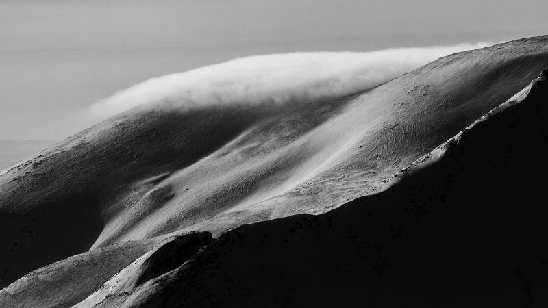 Горы, Снег, Чб Спины горphoto preview
