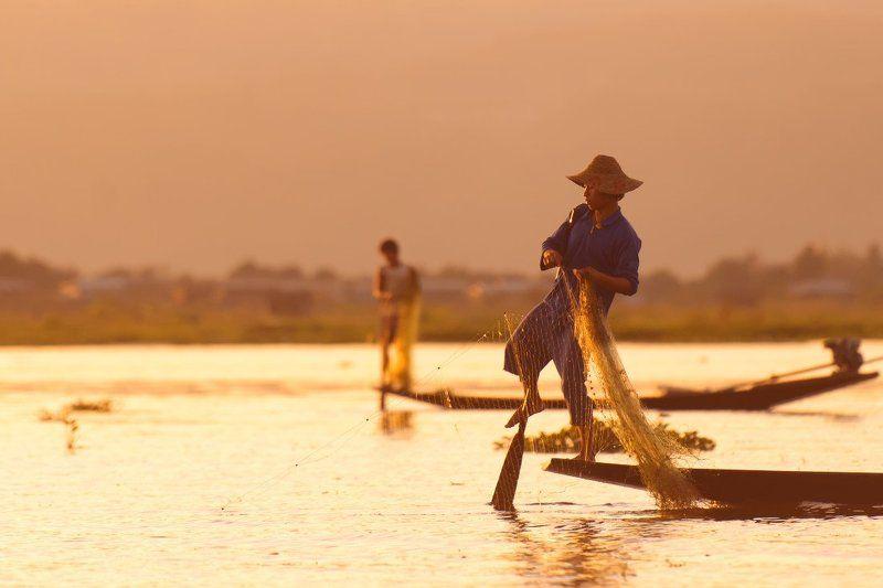 Рыбаки Инта. Бирма.photo preview