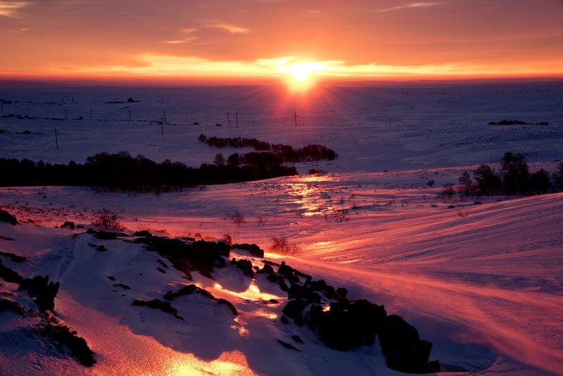 Казахстан. Улытау.зима. Зимнее утро.photo preview