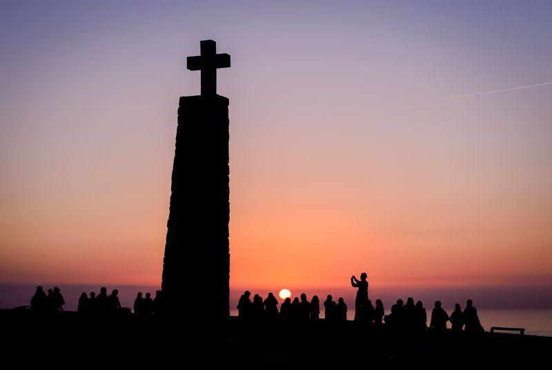 Sunset, Portugal, Cabo da Roca, edge, Europe, Atlantic Sunset silhouettesphoto preview