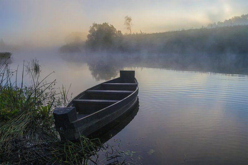d3100, nikon, август 2015, лето, никон, пейзаж, природа, рассвет, река, россия, смоленская область, туман, угра Волшебное утроphoto preview