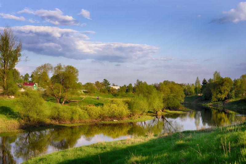 Весна, Небо, Пейзаж, Река ласковый майphoto preview