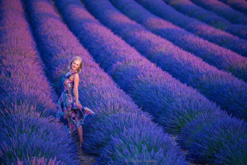 Девушка, Красивая девушка, Лаванда, Лето, Пейзаж, Прованс, Франция, Цветы Лавандовый сезонphoto preview