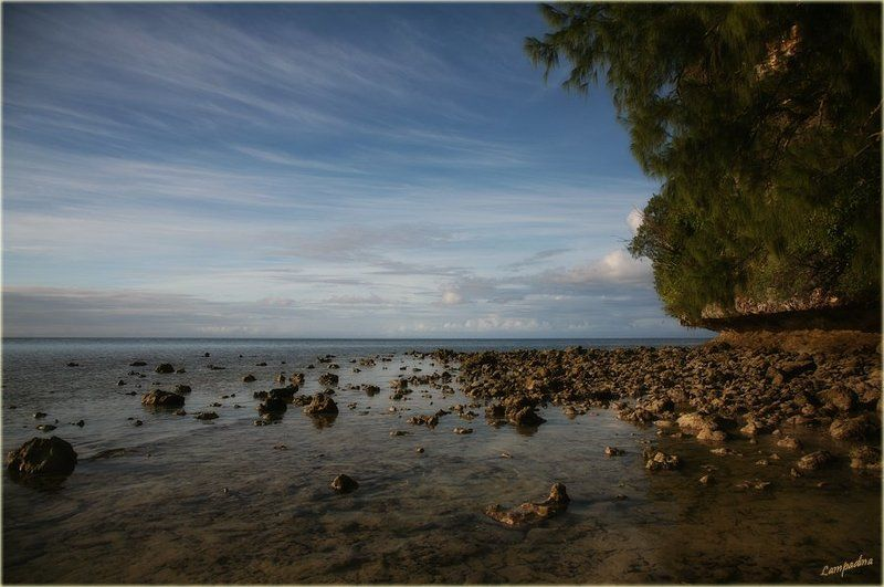 микронезия, палау, необитаемый остров Предзакатная на обратной стороне Землиphoto preview