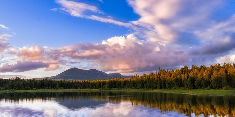 Южный Урал, Таганай Закат с видом на Таганайphoto preview