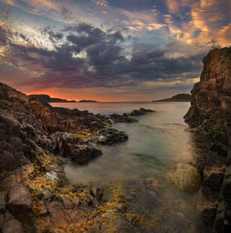 Дальние зеленца, закат, sunset?Dal\'niye Zelentsy, Кольский полуостров чарующий закатphoto preview