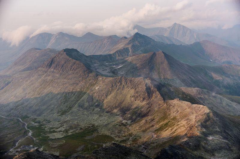 манарага, горы, урал, приполярный, приполярный урал Перевал Студенческий со склона Манарагиphoto preview