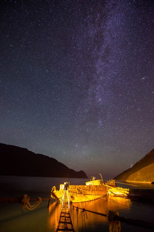 бухта русская, камчатка, тихий океан, природа Ночь в бухте Русскаяphoto preview