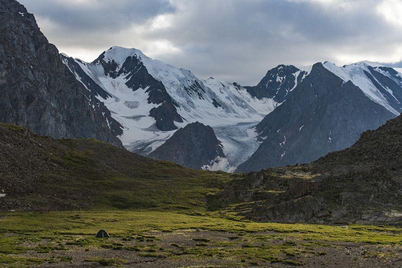 алтай, вечер, закат, снег, горы, природа, пейзаж, долина Зеленая гостинцаphoto preview