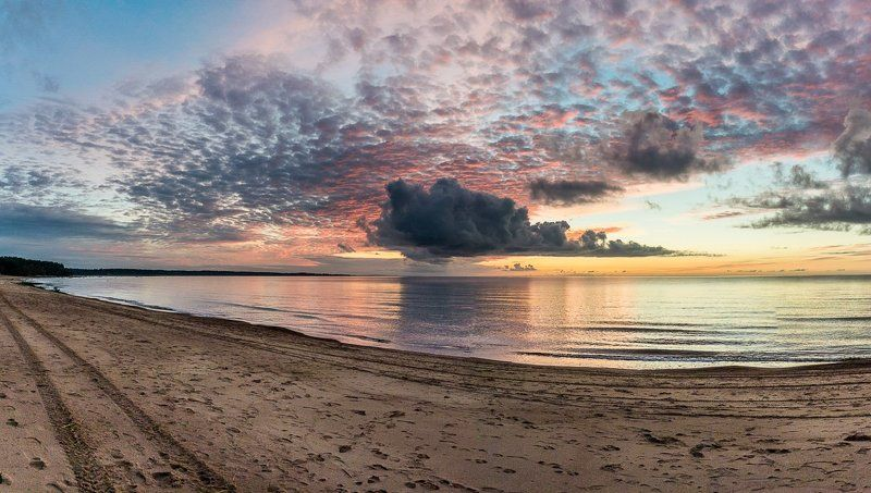 Облако, закат, пляж, Сосновый Бор Закатphoto preview
