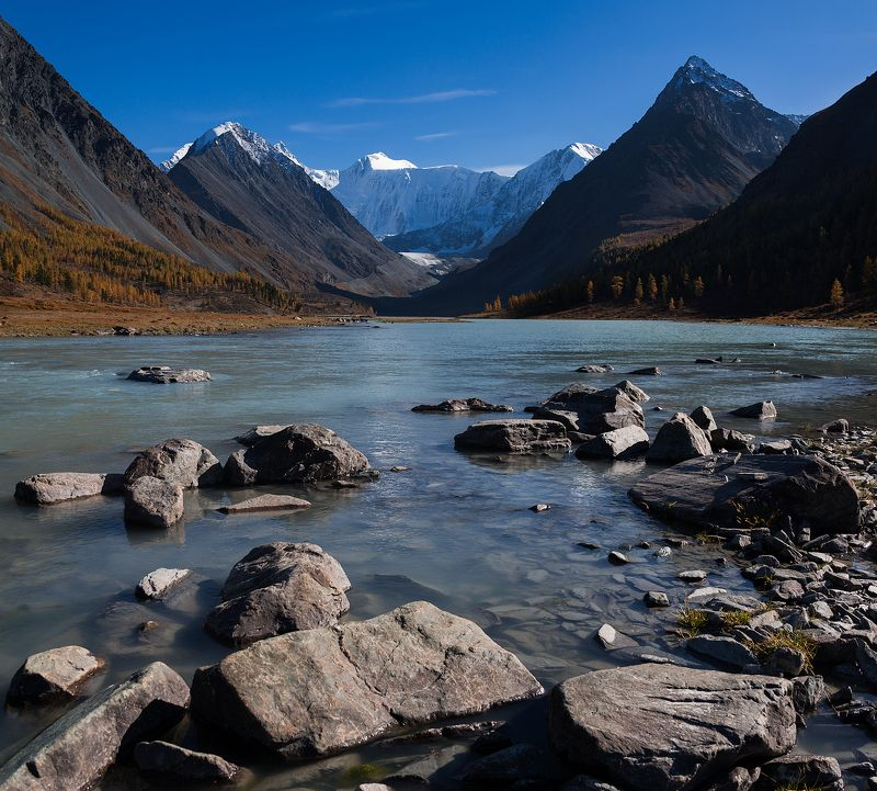 2016, Аккем, Алтай, Белуха, Горы, Осень, Сентябрь Аккемский вечерphoto preview