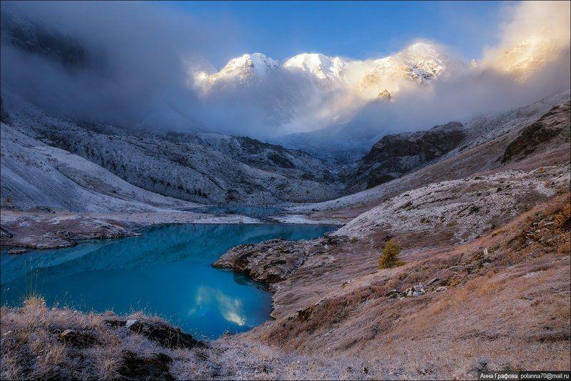 алтай, горы, горный алтай, северо-чуйский хребет, каракабакские озера, аня графова Утренняя синьphoto preview