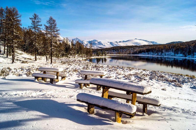 природа алтай путешествие  пейзаж  снег озеро киделю Осень на Киделю...photo preview