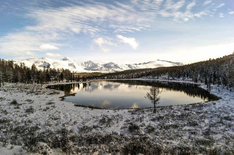 природа алтай путешествие  пейзаж  снег озеро киделю осень Еще раз про Киделю...photo preview
