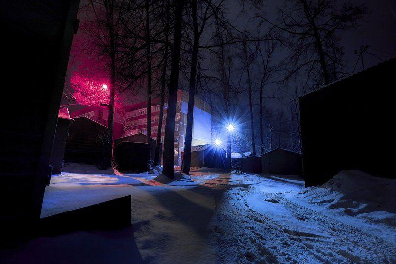 россия, тула, город, ночь, зима, снег, фото, пейзаж, природа, цвет ...photo preview