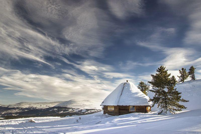 Алтай Начало зимы в горах Алтая.photo preview