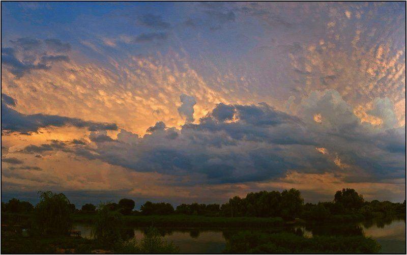 дон, лагутник, ростов-на-дону, лето, вечер Вечерние облакаphoto preview