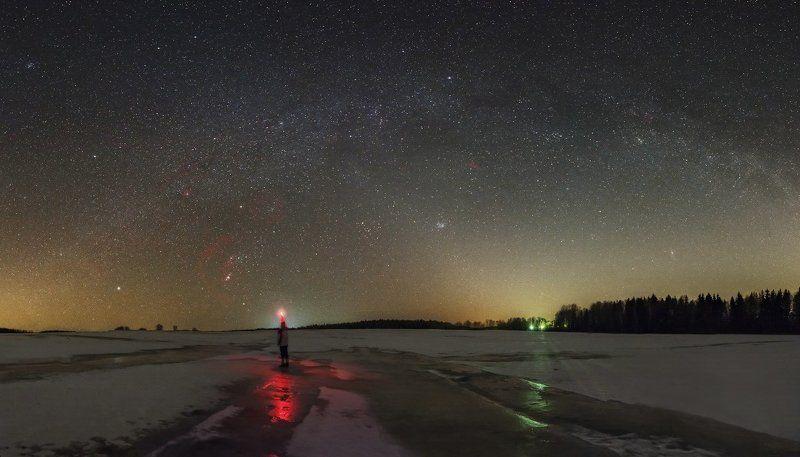 Млечный путь, Орион Панорама зимний Млечный путьphoto preview