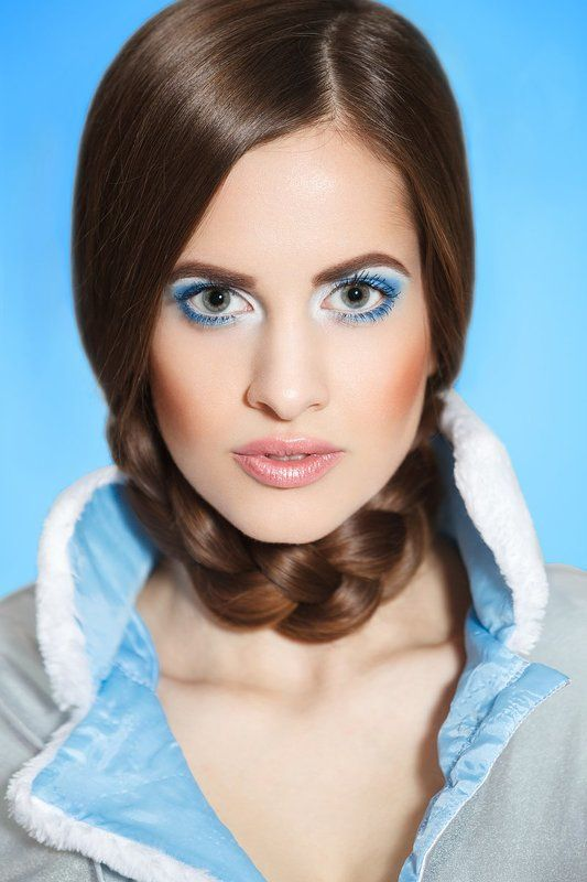 portrait, girl, beauty, new year, make-up, Snegurochkaphoto preview