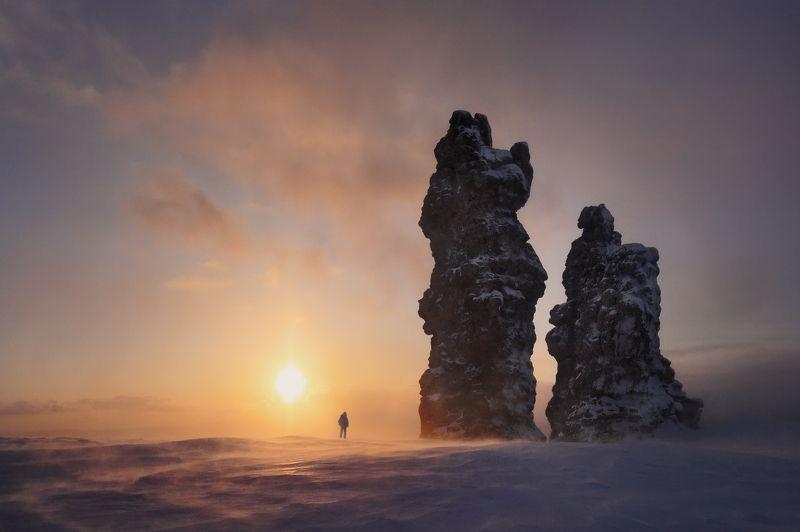 мань-пупу-нёр, хребет, плато, горы, скалы, останцы, северный урал, фотопутешествия, фототур, зима, снег, ветер Мань-пупу-нёрphoto preview