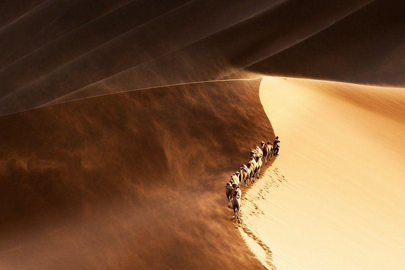 badain jaran , china sand stormphoto preview