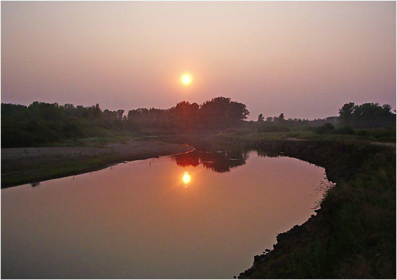 река,вечер,закат,чепца,удмуртия Про тихий вечер на реке Чепцаphoto preview