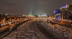 Москва вечерняя, зимняя