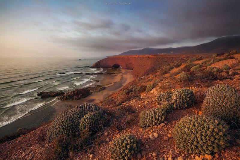 лезгина, марокко, арка, пейзаж, океан, волны, пляж пляж Легзираphoto preview