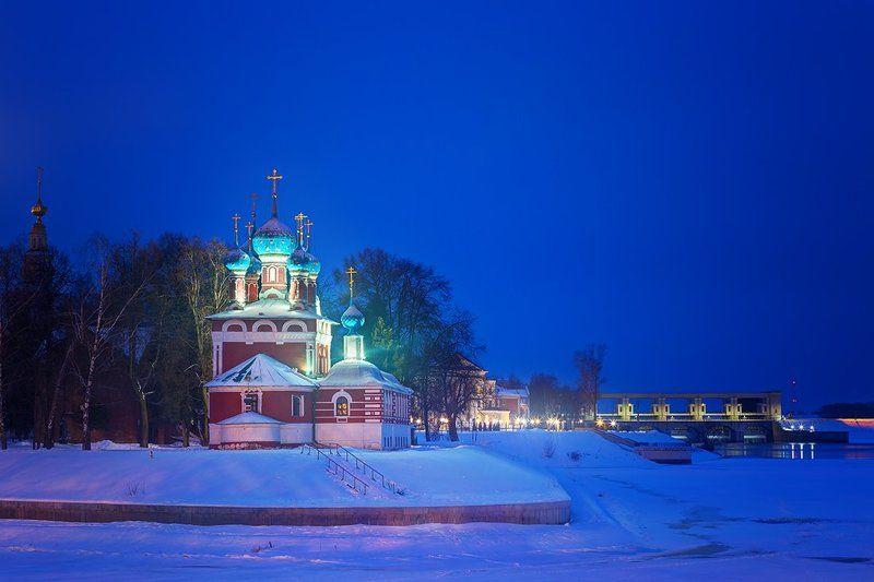 Углич, Золотое Кольцо Зимний вечерний Угличphoto preview