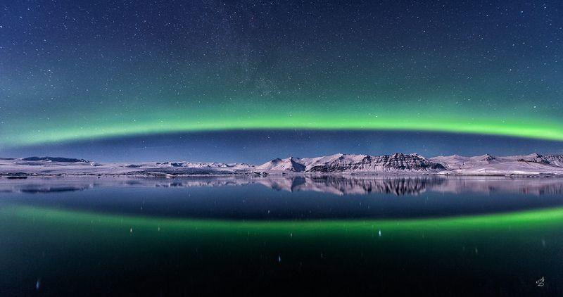 северное сияние, исландия Рождение Аврорыphoto preview