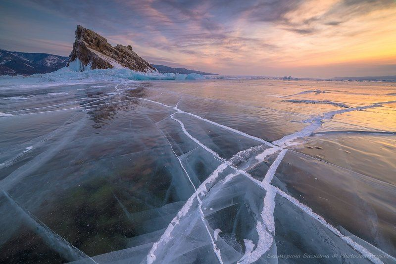 байкал, зима Байкальские диагоналиphoto preview