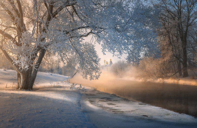 Истра, Новый Иерусалим Морозное утро на Истреphoto preview
