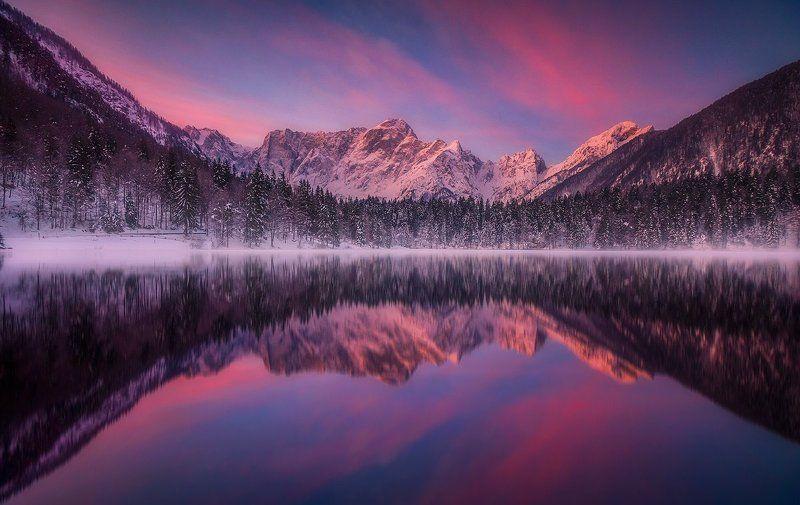 laghi di fusine italy alps mountain snow winter landscape laghi di fusinephoto preview