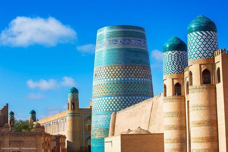 #путешествие #Узбекистан #Хива #Khiva #средневековыйгород Хива - сияющая жемчужина посреди пустыниphoto preview
