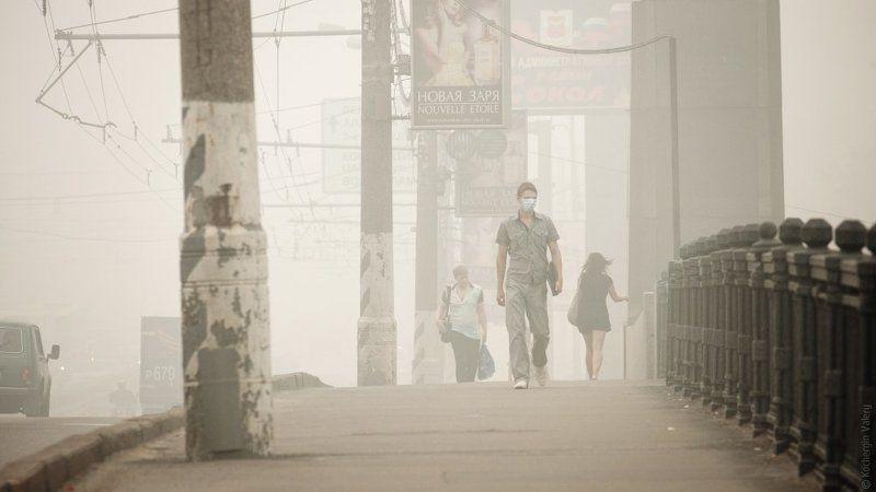 москва, дым, лето Дым в Москвеphoto preview
