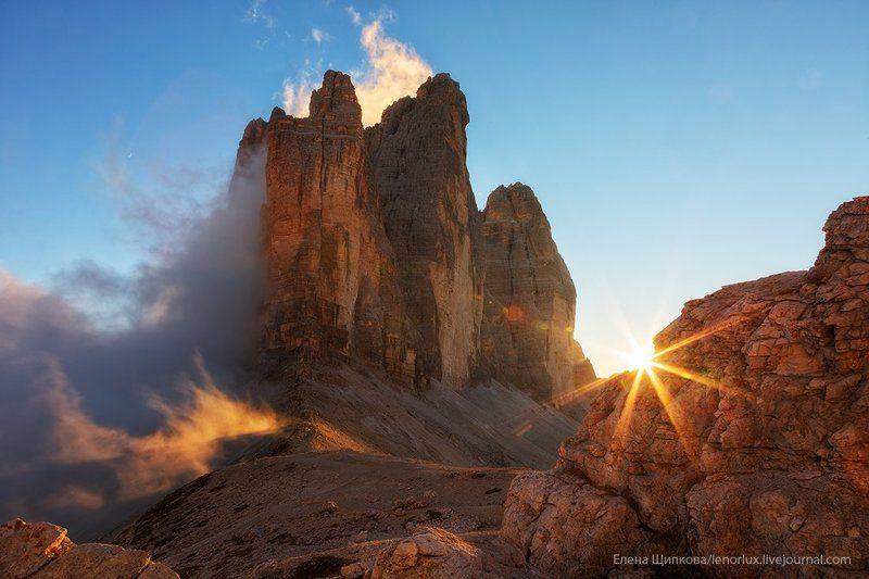 Закат в Доломитовых Альпахphoto preview