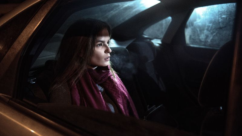 light darkness car night ufo girl cold parishkov Light in darknessphoto preview