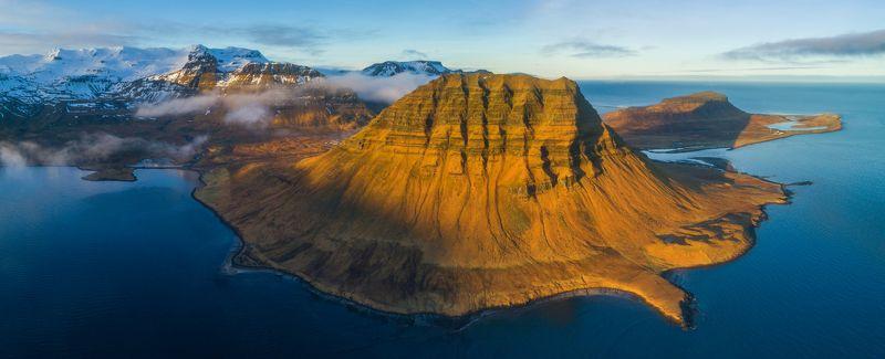 iceland, kirkjufell, исландия, горы, киркъюфелль, аэро, aerial, Kirkjufellphoto preview