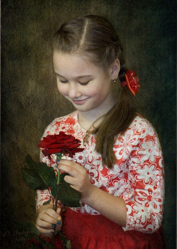 Girl with a rosephoto preview