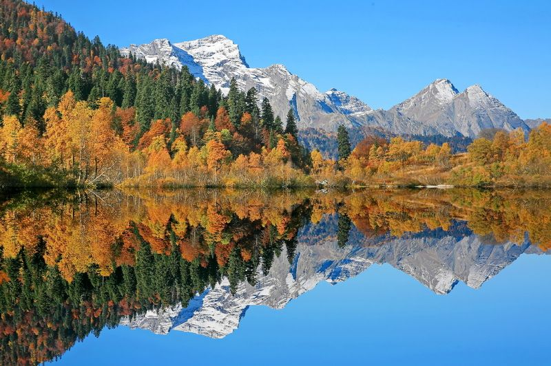горы осень озеро Озеро.photo preview